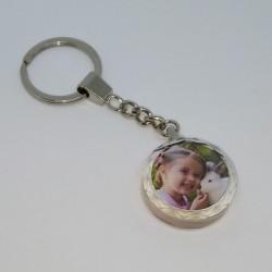 Breloc din cristal rotund personalizat cu o poză