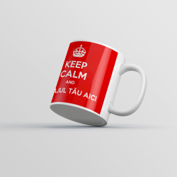 "Cană personalizată - ""Keep Calm"""